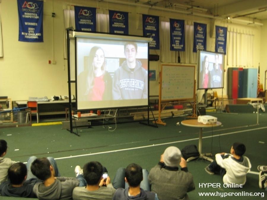 Students watching the Kickoff '11
