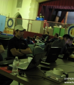 Adults, students, and alumni during Kickoff '11