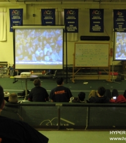 Students watching the Kickoff '11