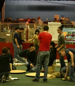 HYPER Team constructing the new field